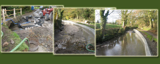 Pond and river bank reconstruction by  UkCoarseFish.co.uk